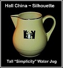 Hall Taverne Silhouette Large Simplicity Beverage Jug