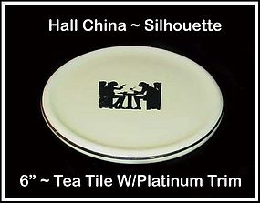 "Hall Taverne Silhouette 6"" Tea Tile or Hot Pad"
