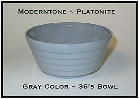 Moderntone Platonite Fired On Gold Color 36s Bowl
