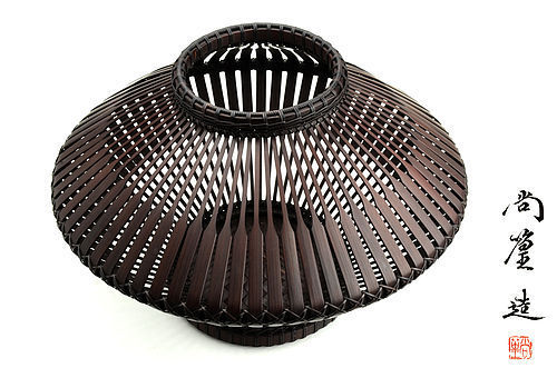 Japanese Bamboo basket made by Shokou (Hayakawa Shokosai 5th)