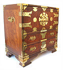 Small Korean Chest with Brass Hardware