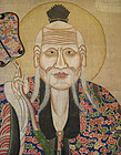 Chinese Antique Large Scroll of Lao Tzu