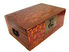 Chinese Red and Gold Lacquered Trunk