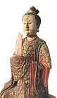 Chinese Ming Dynasty Wooden Female Ancestor Figure