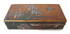 Japanese Antique Lacquer Box with Irises