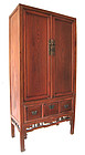Chinese Jumu Wood Red Cabinet