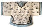 Chinese White Silk Gauze Robe with Embroidery Kossu