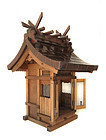 Japanese Hinoki Shinto Shrine with Copper Roof