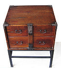 Rare Antique Japanese Small Bar Tansu