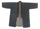 Japanese Antique Indigo Ikat Happi Coat