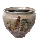 Japanese Antique Ceramic Yumino Ware Jar