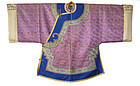Antique Chinese Lavender Woman's Robe