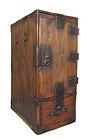 Japanese Antique Tall Dark Gyosho Bako (Peddler's Box)