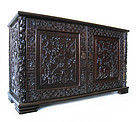 Chinese Carved Low Cabinet