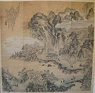 Antique Chinese Landscape Scroll