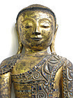 Large Antique Burmese Dry Lacquer Buddha