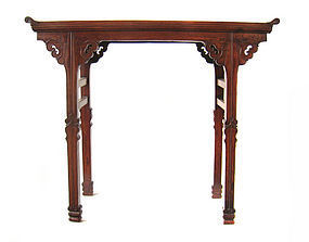 Chinese Antique Small Hard Wood Altar Table