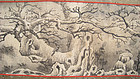 Chinese Antique Hand Scroll with Winter Woods and Birds