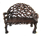 Chinese Antique Root Wood Bench