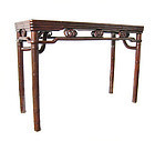 Chinese Antique Altar Table Carved Like Bamboo