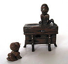 Japanese Antique Okimono of Two Playful Ghouls