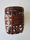 Hanging Woven Bamboo Basket Yokota Hosai