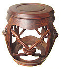 Chinese Huanghuali Wood Drum Stool