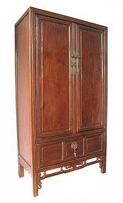 Chinese Antique Tall Jumu Wood Cabinet