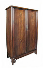 Chinese Jichimu Wood Tapered Cabinet