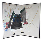 Japanese Screen of Women Samurai By Kitamura Meido