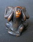 Antique Japanese Okimono of Monkeys