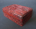 Antique Chinese Cinnabar Lacquer Box