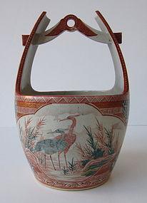 Rare Antique Japanese Koto ware ikebana vase