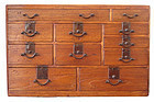 Japanese Antique Kiri Tansu with Eleven Drawers