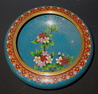 Chinese Cloisonne Bowl with Flowers