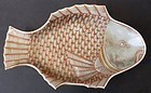 Six Antique Japanese Porcelain Fish-Shaped Plates