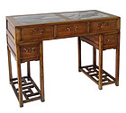 Antique Chinese Two Section Marble Top Desk