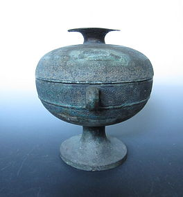 Chinese Warring States Period Dou Bronze Vessel