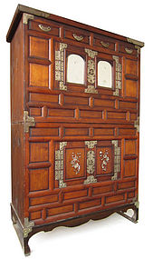 Korean Jang Stacking Clothing Chest with Mirrors