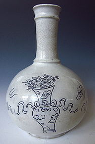 Korean Gray Crackle Pottery Vase