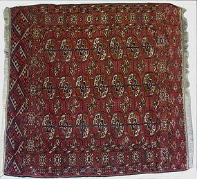 Antique Afghan Tekke Hand Knotted Rug