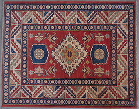 Kazak Hand Knotted Small Rug