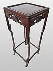 Chinese Hardwood Tall Side Stand Table