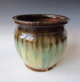 Antique Japanese Seto ware Jar