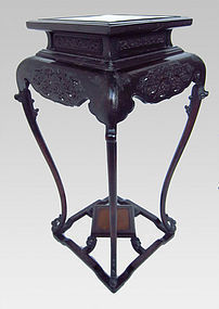 Chinese Zitan Wood Incense Table