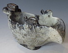 Chinese Jade Guang Ritual Vessel