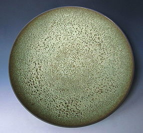 James Lovera Green Volcanic Glaze Ceramic Bowl