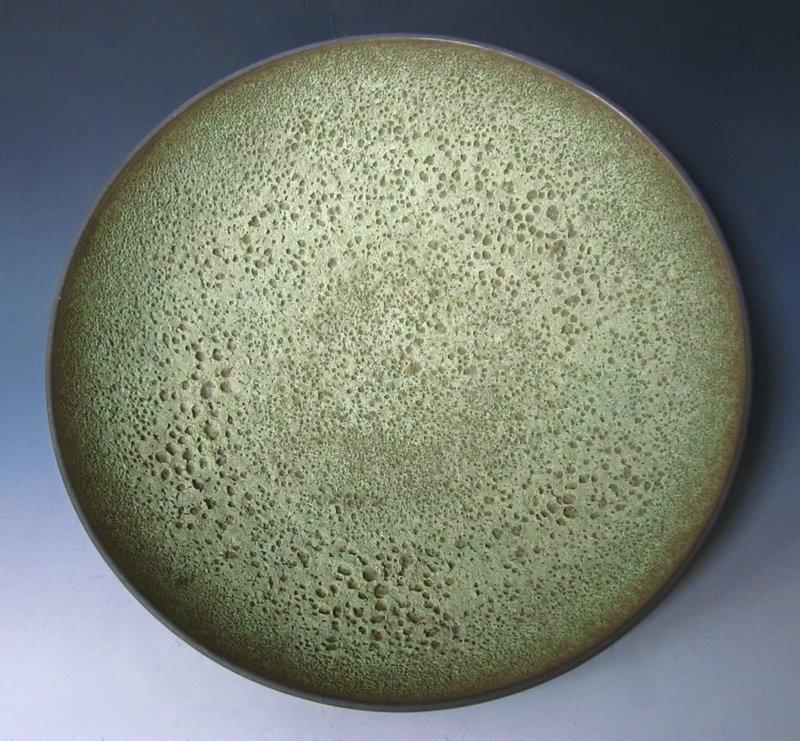 James Lovera Green Volcanic Glaze Ceramic Bowl