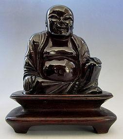 Chinese Amber Smiling Buddha