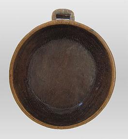 Indonesian Teak Wood Handled Bowl